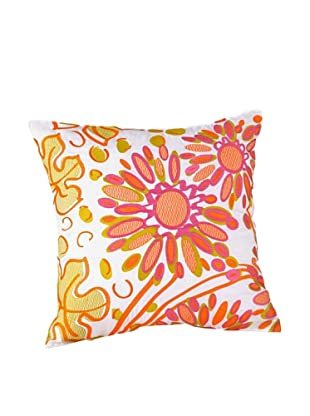 Trina Turk Floral Decorative Pillow, Yellow/Pink