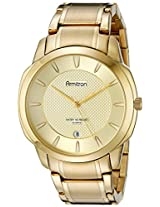 Armitron Men's 20/5050CHGP Date Function Dial Gold-Tone Bracelet Watch