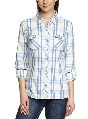 Tom Tailor Camisa Sant Angelo (Azul bleached)