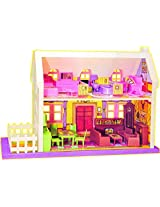 ToyTree 34 pc Doll House contains 4 Set Beautiful Rooms