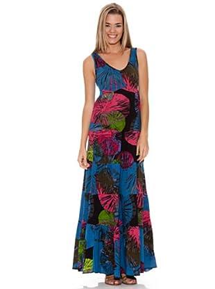 Peace & Love Vestido Estampado (Azul)