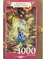 MasterPieces Down The Rabbit Hole Book Box Jigsaw Puzzle, 1000-Piece
