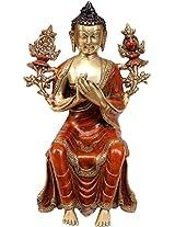 Maitreya - The Future Buddha (To Be Seated on Edge) - Brass Statue