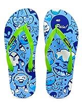 Freetoes Men Emotions Multicolor Flip Flops (FTEMOAQUA09) 10 UK