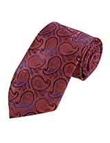 DAA7B12A Orange Purple Patterned Fathers Day Gifts Tie Woven Microfiber Tie For Comfort By Dan Smith