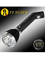 JY SUPER Long Range RECHARGABLE LED TORCH with heavy head light Fordable back light with dual energy source