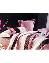 FRIDA KING SIZE PINK BEDSHEET WITH PILLOW COVERS, 100% COTTON