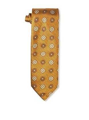 Massimo Bizzocchi Men's Vintage Medallion Tie, Orange