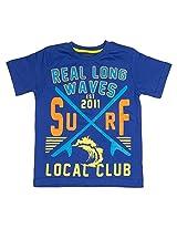 Slub Junior Boys Knit Top(SJKN000344A8-9Years_Blue_8-9 Y)
