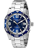 Stuhrling Original Aquadiver Regatta Analog Blue Dial Men's Watch - 415.02