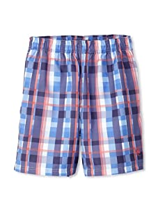 French Connection Men's Tiger Swim Trunks (Cleo Blue)