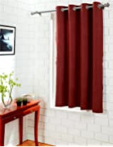 House This 100% Cotton 1 Window Curtain Ethnic Paisley Red