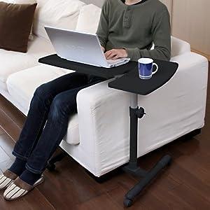 【クリックでお店のこの商品のページへ】サンワダイレクト ノートパソコンスタンド ノートPC台 高さ&角度調整可能 ブラック 100-DESK040BK