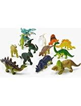 "Kk 12pcs Assorted Small Dinosaur Toy Size 1.96"" 3.14"" Including Tree & Bucket Packing,Kids Toys"