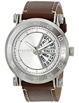 Akribos XXIV Men's AK552SS Stainless Steel Quartz Day Date Strap Watch