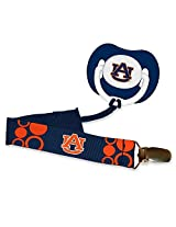 Baby Fanatic Pacifier with Clip, Auburn University
