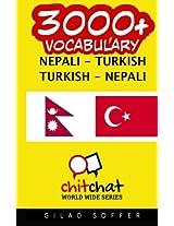 3000+ Nepali - Turkish Turkish - Nepali Vocabulary