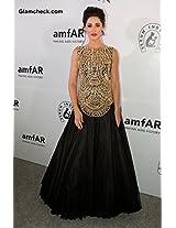 Zahara Black Colored Trendy Nargis Gown Georgette Material