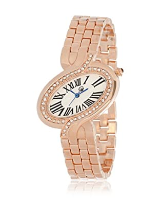 My Silver Reloj Reloj de Acero Rosado con Piedras Strass