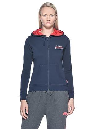 Lonsdale  Ladies Hooded felpa (Navy)