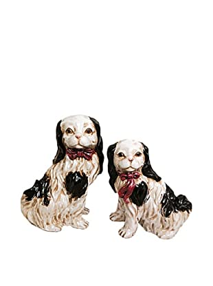 Set of 2 Little Dog Figurines