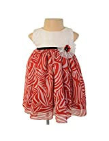 Faye Emb Ivory & Red Printed Dress