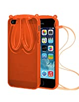 AMZER TPU Case With Rabbit Ears - Orange for iPhone 5