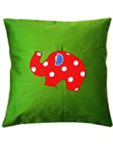 Kadambaby - Green Elephant Cushion Cover