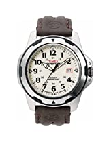 Timex Men's T49261 Expedition Rugged Field Shock Analog Brown Leather Strap Watch