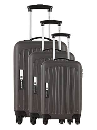 Platinium Set 3 Trolleys 4 Ruedas Tonga (Gris)