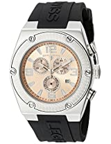 Swiss Legend Watches, Men's Throttle Chronograph Rose Gold Tone Dial Black Silicone, Model 30025-09