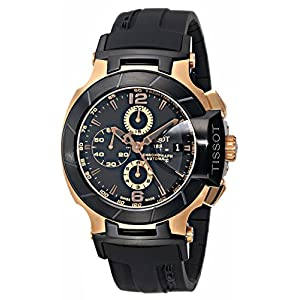 Tissot Black And Gold Chronograph Men's Wrist Watch