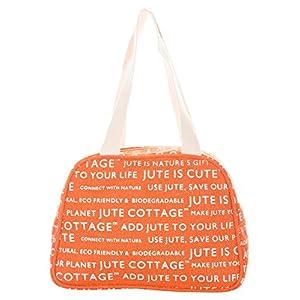 Jute Cottage Women's Shoulder Bag (Orange) (B-035-Tenzarin)