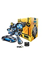 TurboZ TT663 Remote Control Changing Robot Car, Blue