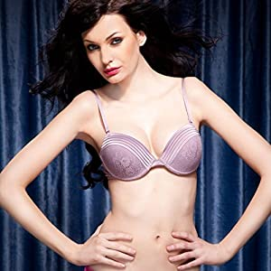 Chic Pushup Demicup Bra In Lavender