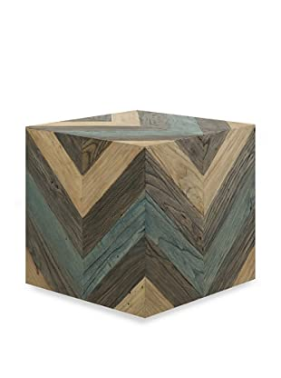 Shine by S.H.O. Miri Accent Stool (Antique Black/Green/Old Elm)