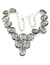 925 Silver Silver-Plated Choker  For Women (Grey)