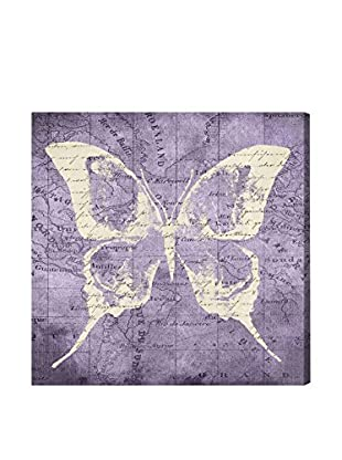 Oliver Gal 'Violet Wings' Canvas Art