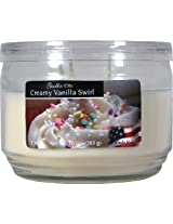 Candle-lite Essentials 3 Wick 10-Ounce Creamy Vanilla Swirl Terrace Jar Candle
