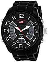 U.S. Polo Assn. Sport Men's US9484 Analog-Digital Display Analog Quartz Black Watch