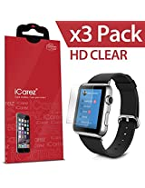 iCarez For Apple Watch / Apple Watch Sport / Apple Watch Edition (38MM Only) [HD Clear] Highest Quality Premium Screen ProtectorHigh Definition Ultra Clear Anti Bacterial Bubble Free Reduce Fingerprint Screen Protector **PE