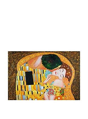 Arte Dal Mondo Olgemälde auf Leinwand Klimt Bacio Dettaglio