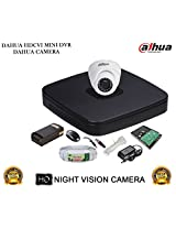 DAHUA HDCVI 4CH DH-HCVR4104C-S2 DVR + DAHUA HDCVI DH-HAC-HDW1000RP DOME CAMERA 1Pcs + 1 TB WD HDD + 3+1 COPPER CABLE + POWER SUPPLY (FULL COMBO)