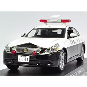 【クリックで詳細表示】RAIS 1/43 NISSAN SKYLINE 350GT V36 PATROL CAR 2008 北海道警察交通部交通機動隊車両