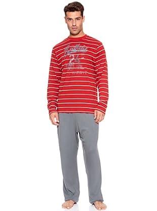 ABANDERADO Pijama Caballero Redfield (Rojo / Gris)