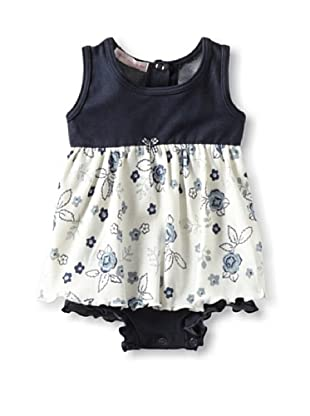 Mish Mish Baby Bodysuit Dress (Denim Flower)