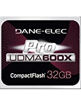 DANE ELECTRONICS Pro High Speed CF 32GB Memory Card (DA-CF6032G-C)