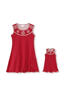 Me & Dolly by 4EverPrincess Girl's Sally Dress (Red)