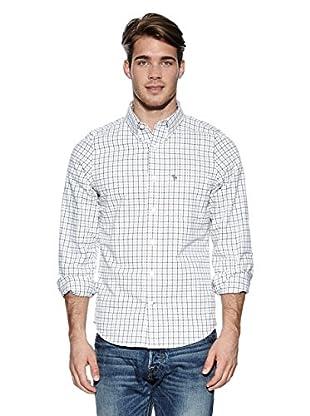 Abercrombie & Fitch Hemd Classic (weiß / grau / grün)