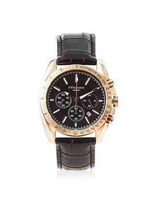 Rudiger Men's R1000-09-007L Dresden Rose Gold Black Dial Chronograph Tachymeter Watch
